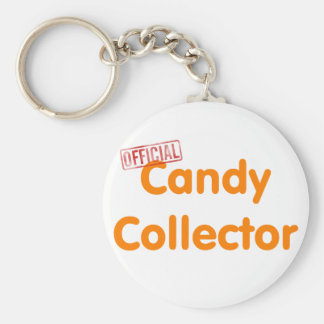 Official Halloween candy collector Basic Round Button Keychain