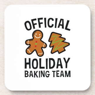 Official Holiday Baking Team Coaster