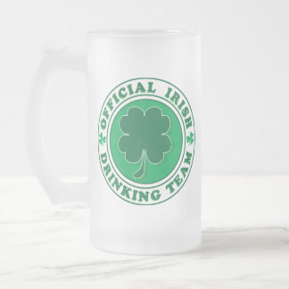 Official-Iris-Drinking-Team Frosted Glass Beer Mug