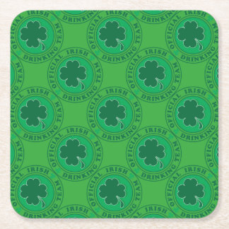 Official-Iris-Drinking-Team Square Paper Coaster