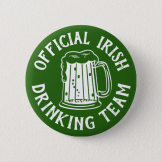 Official Irish Drinking Team | Comical Green Beer 2 Inch Round Button