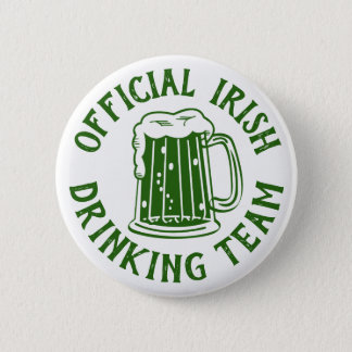 Official Irish Drinking Team | Funny Irish Party 2 Inch Round Button