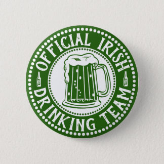 Official Irish Drinking Team Funny St Paddys Day 2 Inch Round Button