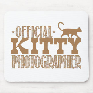 official kitty photographer mouse pad