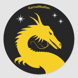 Official logo of KarmaWeather Classic Round Sticker