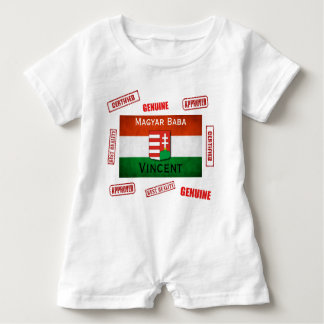 Official Magyar Baba w/Name Personalization Baby Romper