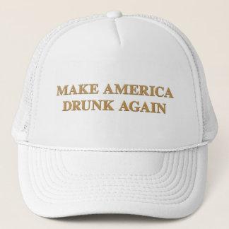 Official Make America Drunk Again Cap - White/Gold