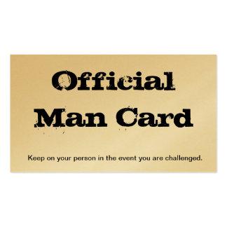 Official Man Card Business Card