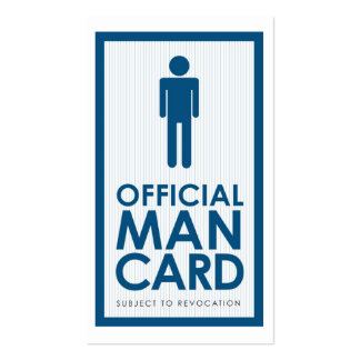 Official Man Card Pack Of Standard Business Cards