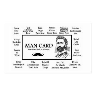 Official Man Cards! Pack Of Standard Business Cards
