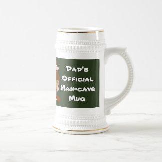 Official Man Cave Mug Brown Haired Caveman
