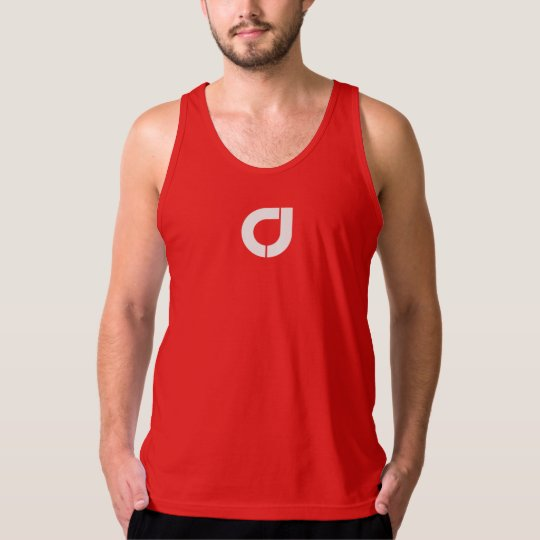 Official Men's CJ Fitted Tank Top - Red