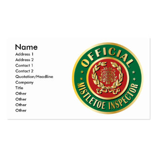 Official Mistletoe Inspector Double-Sided Standard Business Cards (Pack Of 100)