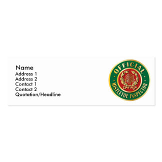 Official Mistletoe Inspector Pack Of Skinny Business Cards