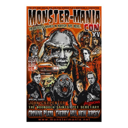 Official Monster-Mania 15 Horror Convention Posters