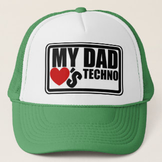 "Official ""My Dad Loves Techno"" Trucker Hat"