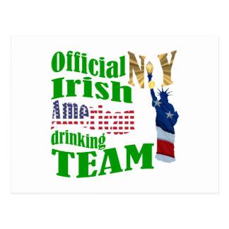 Official N.Y. Irish American drinking team Postcard