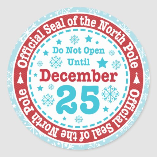 North Pole Official Seal official north pole seal christmas round ...