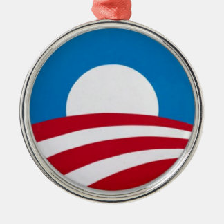 Official Obama campaign logo Metal Ornament
