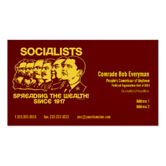 Official Obammunist Part Commissar Card Business Card