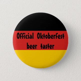 Official Oktoberfest Beer Taster 2 Inch Round Button