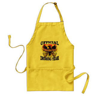 Official Oktoberfest Drinking Team Gear Standard Apron