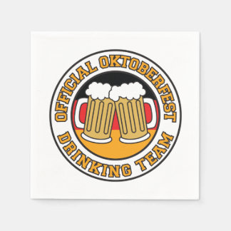 Official Oktoberfest Drinking Team With Flag Paper Napkins