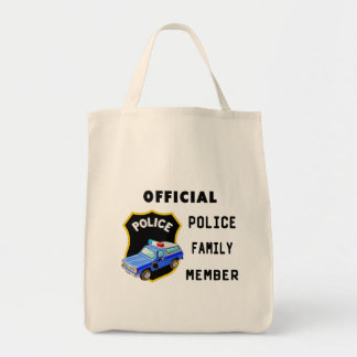 Official Police Family Canvas Bags