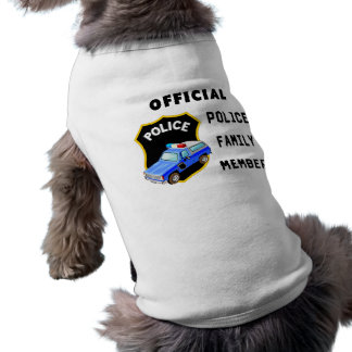 Official Police Family Doggie T-shirt