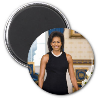 Official Portrait of First Lady Michelle Obama Magnet