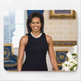 Official Portrait of First Lady Michelle Obama Mouse Pad