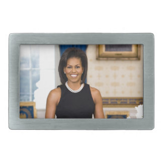 Official Portrait of First Lady Michelle Obama Rectangular Belt Buckle