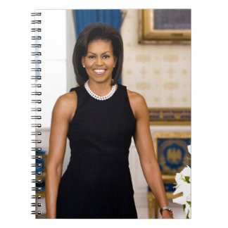 Official Portrait of First Lady Michelle Obama Spiral Notebook