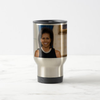 Official Portrait of First Lady Michelle Obama Travel Mug