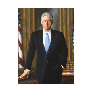 Official Presidential Portrait Bill Clinton Canvas Print