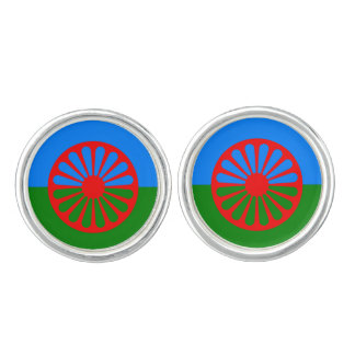 Official Romany gypsy flag Cuff Links