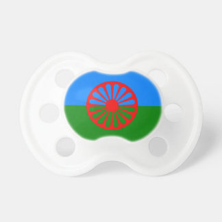 Official Romany gypsy flag Pacifier