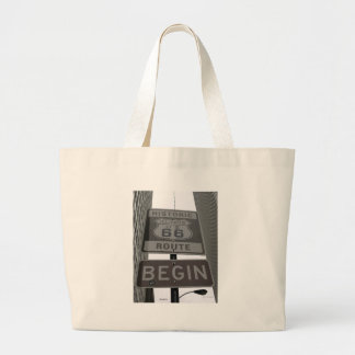 Official Route 66 begin sign Jumbo Tote Bag