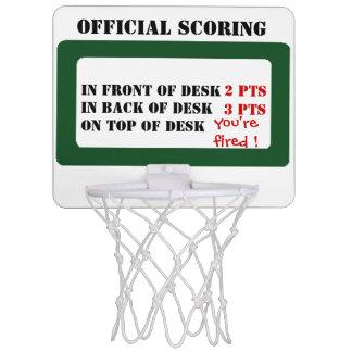 Official scoring mini basketball hoop