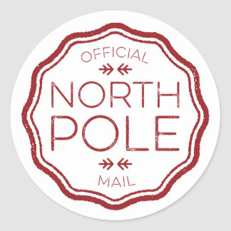 Official Seal from the North Pole Round Sticker