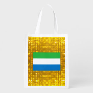 Official Sierra Leonean Flag Reusable Grocery Bags