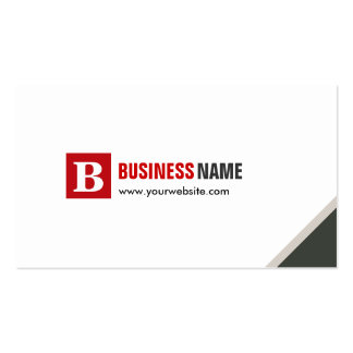 Official Simple Chic Modern Double Sided Pack Of Standard Business Cards