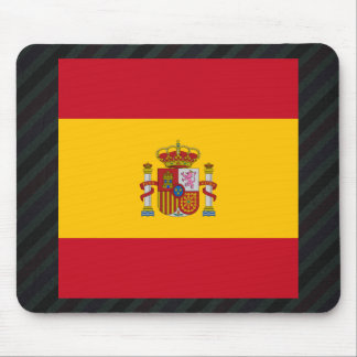 Official Spain Flag on stripes Mouse Pad