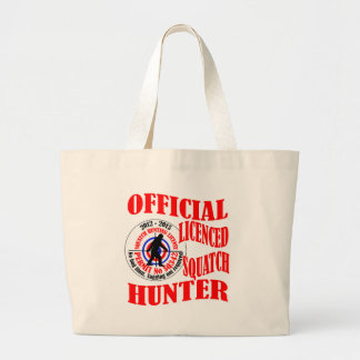 Official squatch hunter tote bag