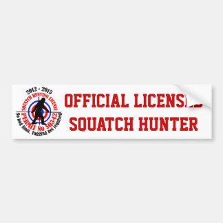 Official squatch hunter bumper sticker