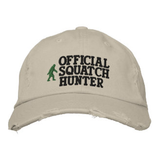 Official squatch hunter embroidered hat