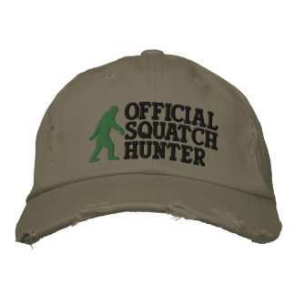 Official squatch hunter * large logo version* embroidered hats