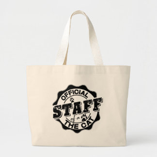 Official Staff of the Cat Jumbo Tote Bag
