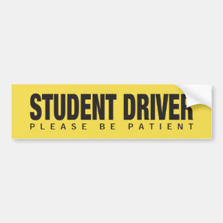 OFFICIAL STUDENT DRIVER BUMPER STICKER