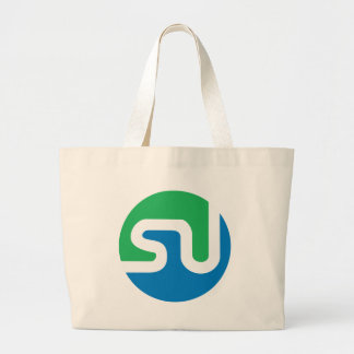 Official StumbleUpon logo Jumbo Tote Bag
